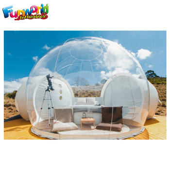 Outdoor camping transparent bubble tent inflatable igloo tent clear dome