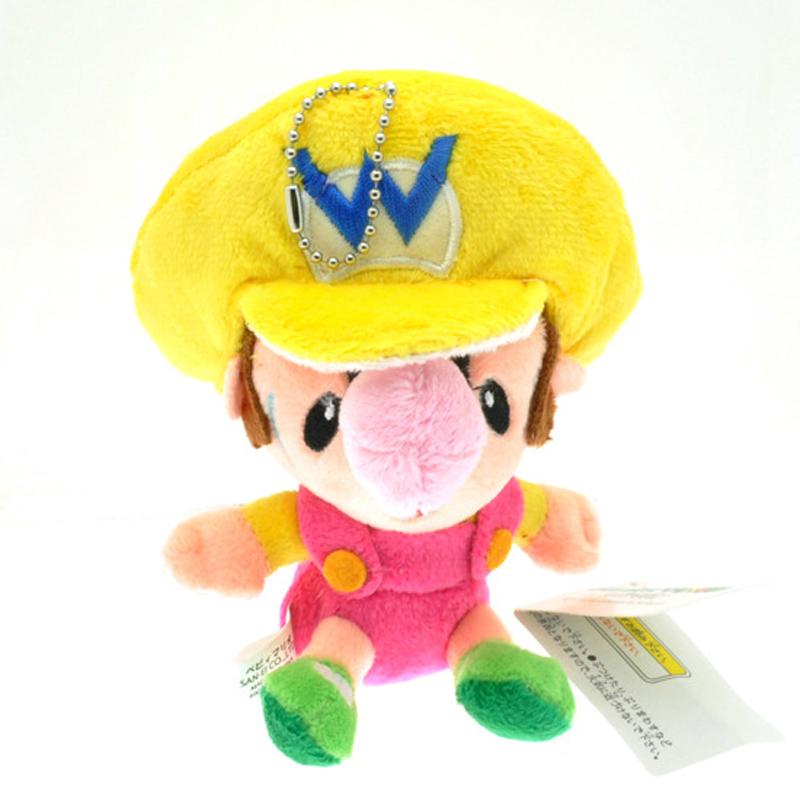 1pcs Super Mario Bros Plush Toys 14cm Baby Mario Luigi