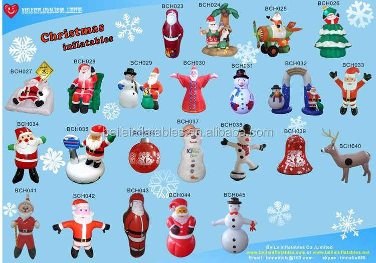 Christmas decoration 2017 Inflatable christmas santa hat stand