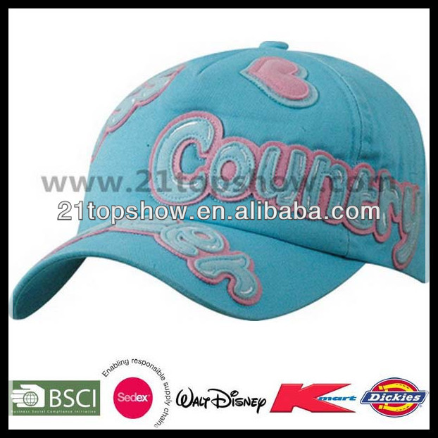fashion 6 p baseball cap applique embroidery cap metal buckle cap