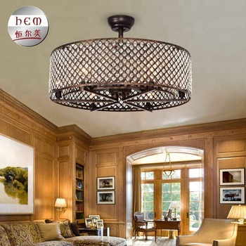 Crystal Chandelier Fancy Dc Motor Ceiling Fan Light Kit Price With Best