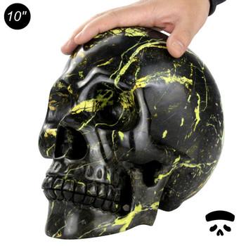 wholesale halloween skulls 10 inch decorative big life size skull statues - Halloween Skulls Pictures