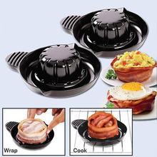 Fulfillment Company 2 Pcs/Set Baking Tool Perfect Bacon Bowls For Microwave Dishwasher Safe KitchenSalad Tools