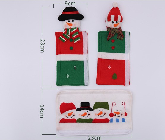 Christmas door handle lengthened anti-collision cloth protective cover