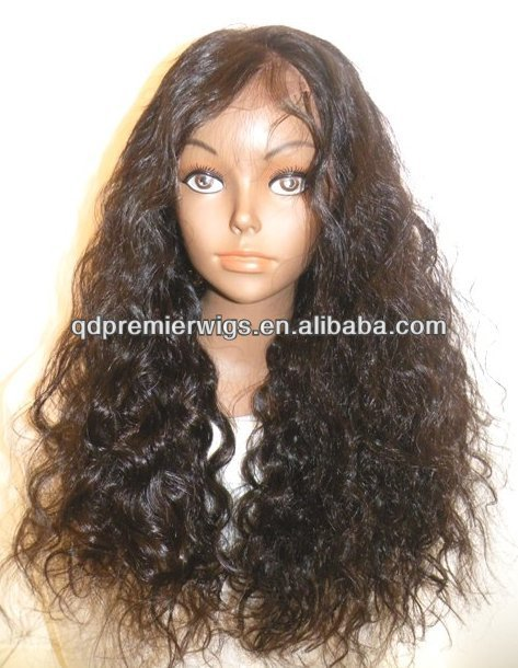 factory price silky wave stock Front Lace Wig / glueless Full lace wig Indian hair lace wigs Natural hairline for black women