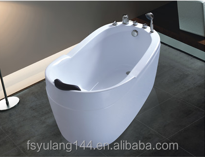 AD-6615 Hot sale cheap acrylic soaking hot tub freestanding small bathtub with 4 sizes