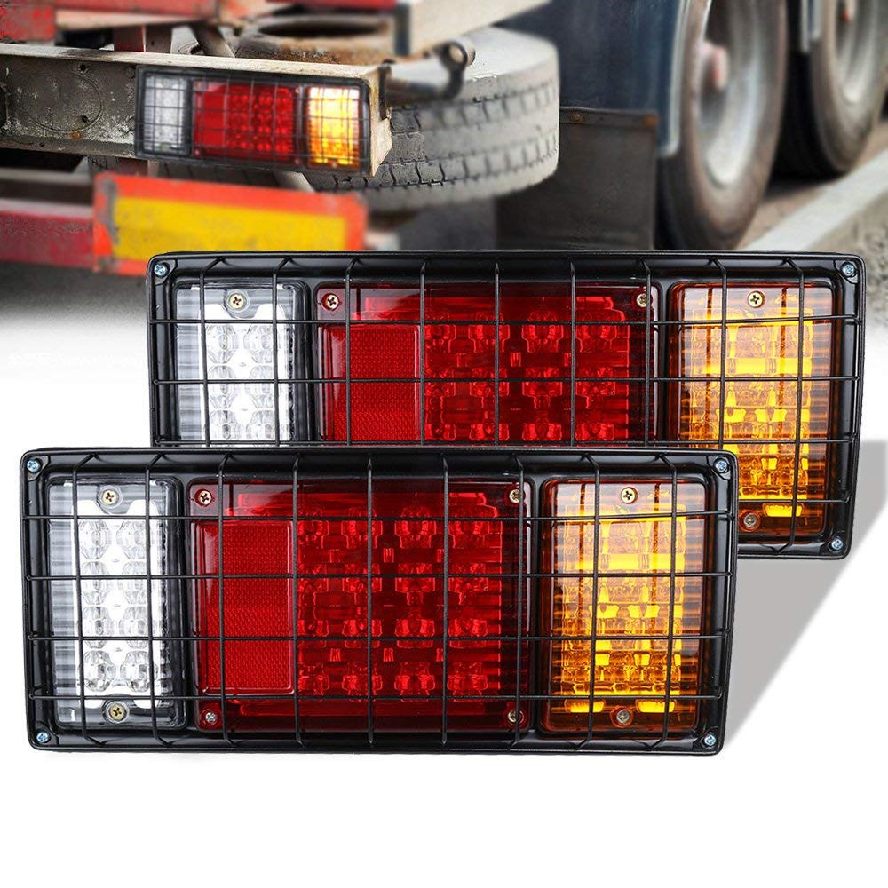 R TOOGOO 2x 30 LED Waterproof 2W Tail Rear Light Lamp Red//Yellow for Trailer Truck Boat