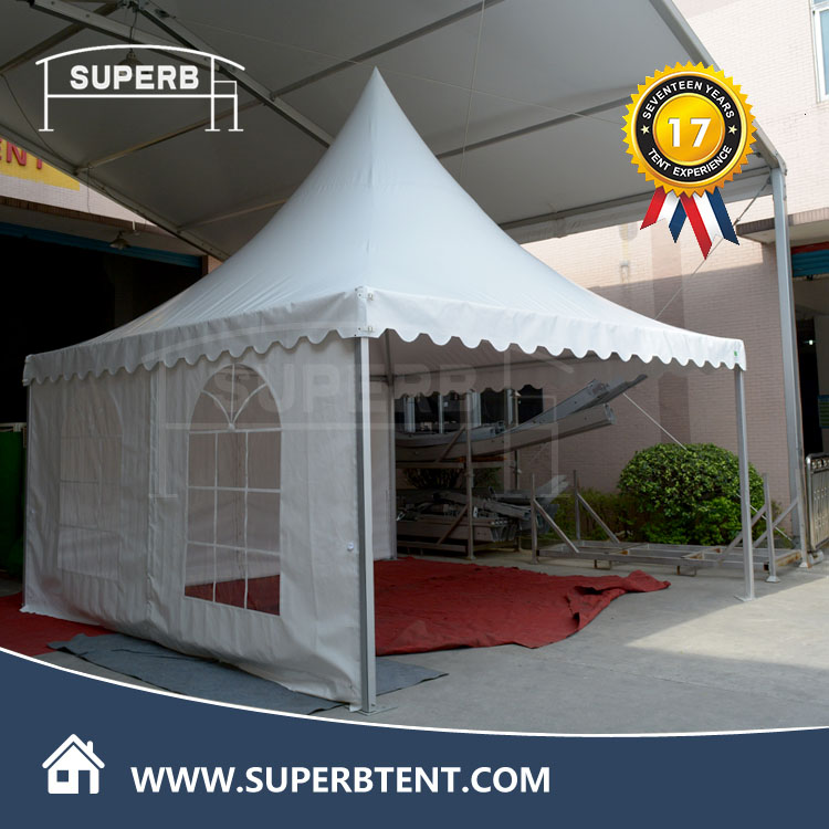 Whole sale aluminum frame waterproof movable two car garage pagoda tent