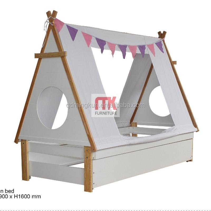madera de pino litera mid tee pee cama con tienda de campaa cama alta para nios