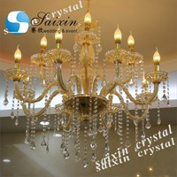 Luxury modern crystal pendant ceiling light for wedding decor.