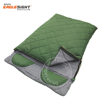 2 Person Double Sleeping Bag For Two With Pillow