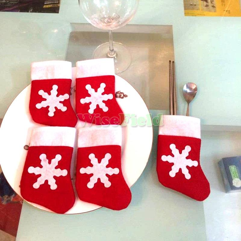2016 Hot Sale Mini Christmas Stockings Christmas Decoration Supplies Decorations Festival Party Ornament