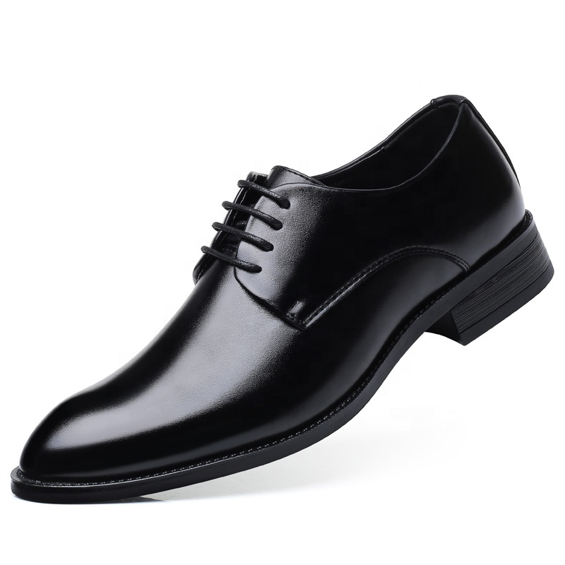 Man Classic 첨 발가락 Dress Shoes 공식적인 가죽 Derby 슈 Black Oxford 대 한 Business Casual Daily