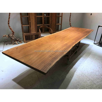 12 person meeting room big table live edge wooden modern conference table
