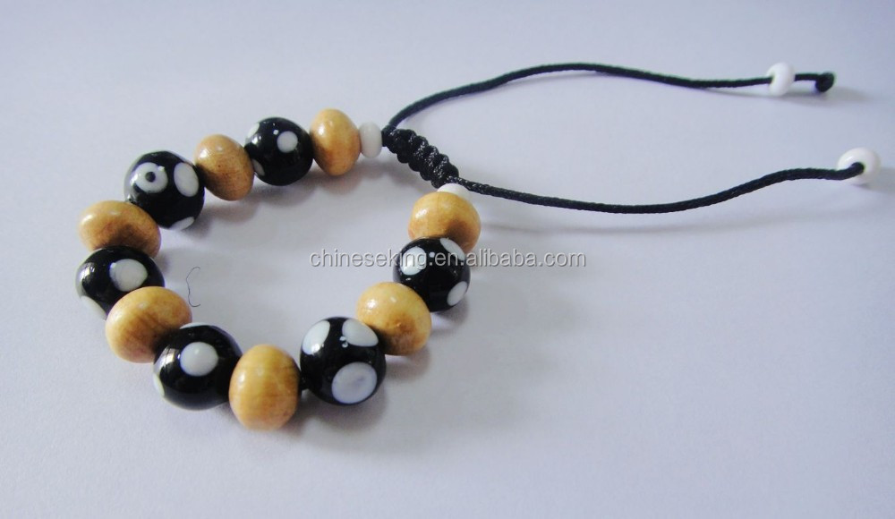 Islamic Prayer Beads Muslim Bracelets Kids Allah Bracelet With Wood Glass Beads