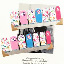 White Pink min Mouse child Nail Arts Nail Sticker Waterproof Nail Decal Sticker Gel Polish French