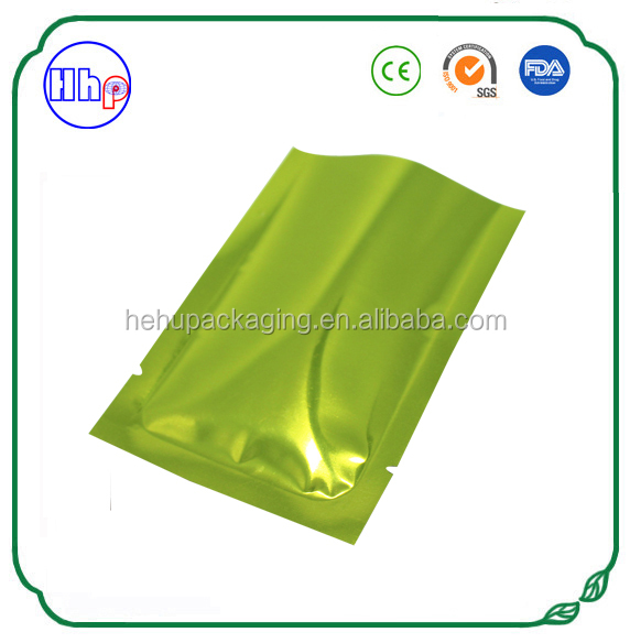 air proof heat sealable three side sealed aluminum foil vacuum bags