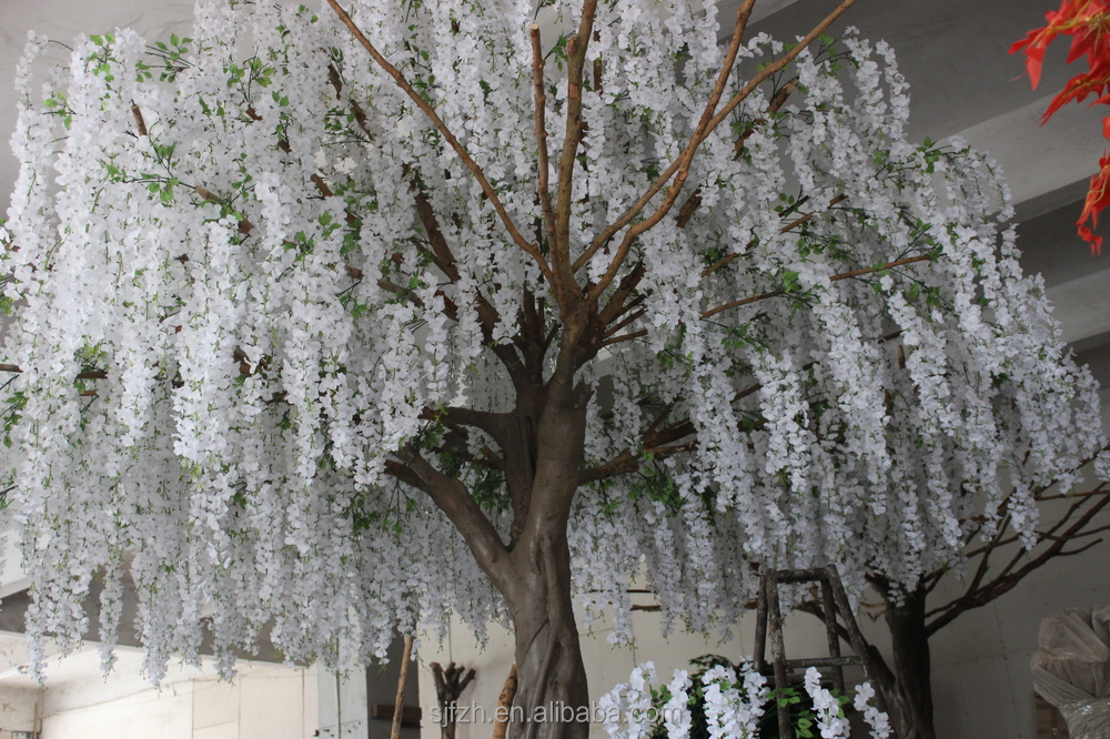 Customized Tall White Wedding Blossom Tree For Garden Decoration ...
