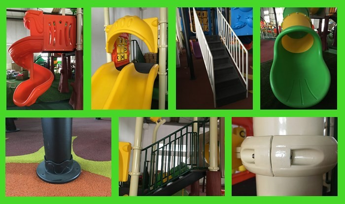 Outdoor playground plastic slide