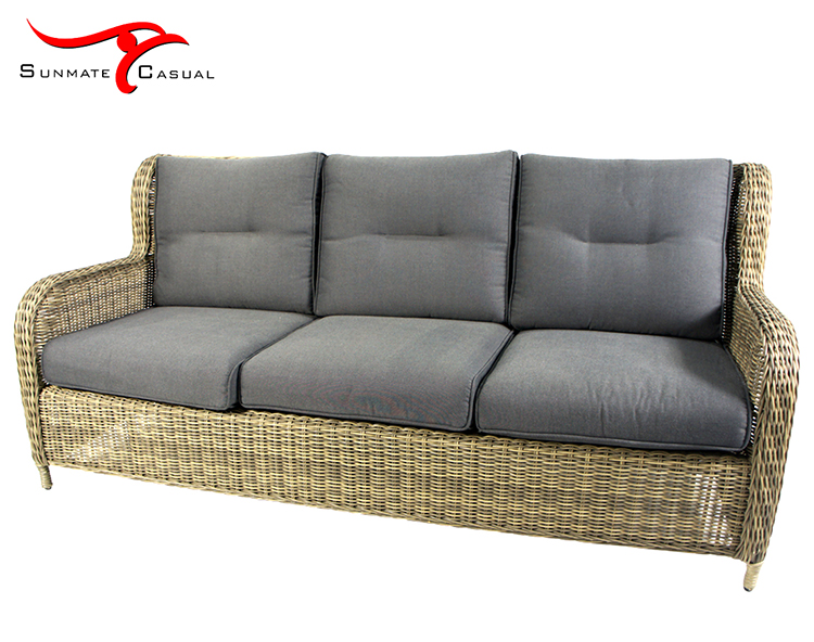 Deep Seating Luxury Classic Outdoor Furniture Garden Patio Rattan Wicker Sofa Set with Coffee Table