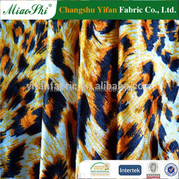 New flower design sublimation heat transfer print for clothes fabric semi digital printed T/C satin fabric with spandex