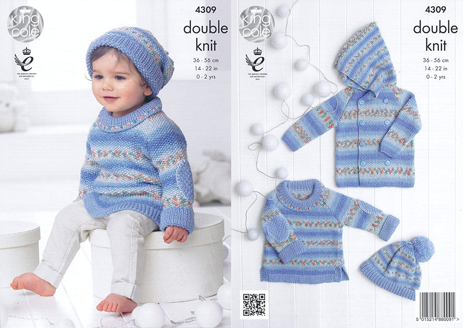King Cole Double Knitting Pattern Cardigan /& Sweater Selection Melody DK 3842