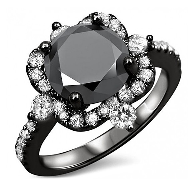 Fashion Black Gold Filled for men ring Black & White Sapphire party Jewelry Finger Ring women