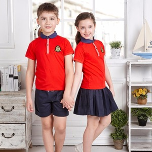 PATON Custom BOYS & GIRLS Polo t shirt sets with pictures kids school uniforms colours
