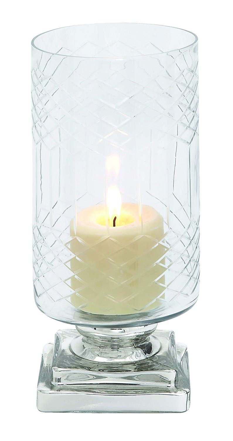 Plutus Brands Smart Styled Opaque Designed Glass Candle Holder