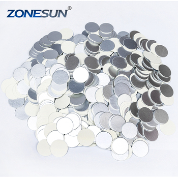 ZONESUN 500PCS coffee pods aluminum foil lid for nespresso capsule induction sealer aluminum foil sealing machine