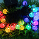 20 LED Festival Solar Light Outdoor String Colorful Bubble Light