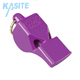 Free Sample Available Colored Football Flat Plastic Fox Referee Whistle