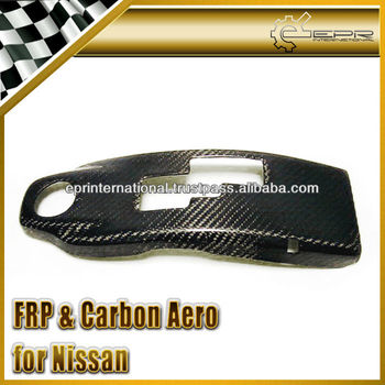 For Nissan R35 GTR GT-R OEM Style Carbon Fiber Gear Shift Surround Cover