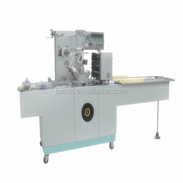 Economic effective perfume box cellophane wrapping machine