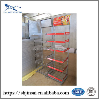 Metal Flooring Oil Display Rack Shelf
