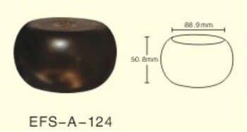 Smooth Finished Short Round Wooden Sofa Foot(EFS A 124)