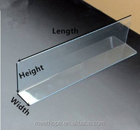 Plastic L Shape Clear Shelf Dividers
