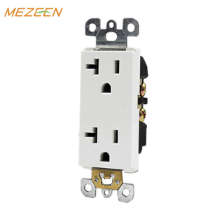 Hotel home convenient use double wall electric socket outlet wall mount power socket
