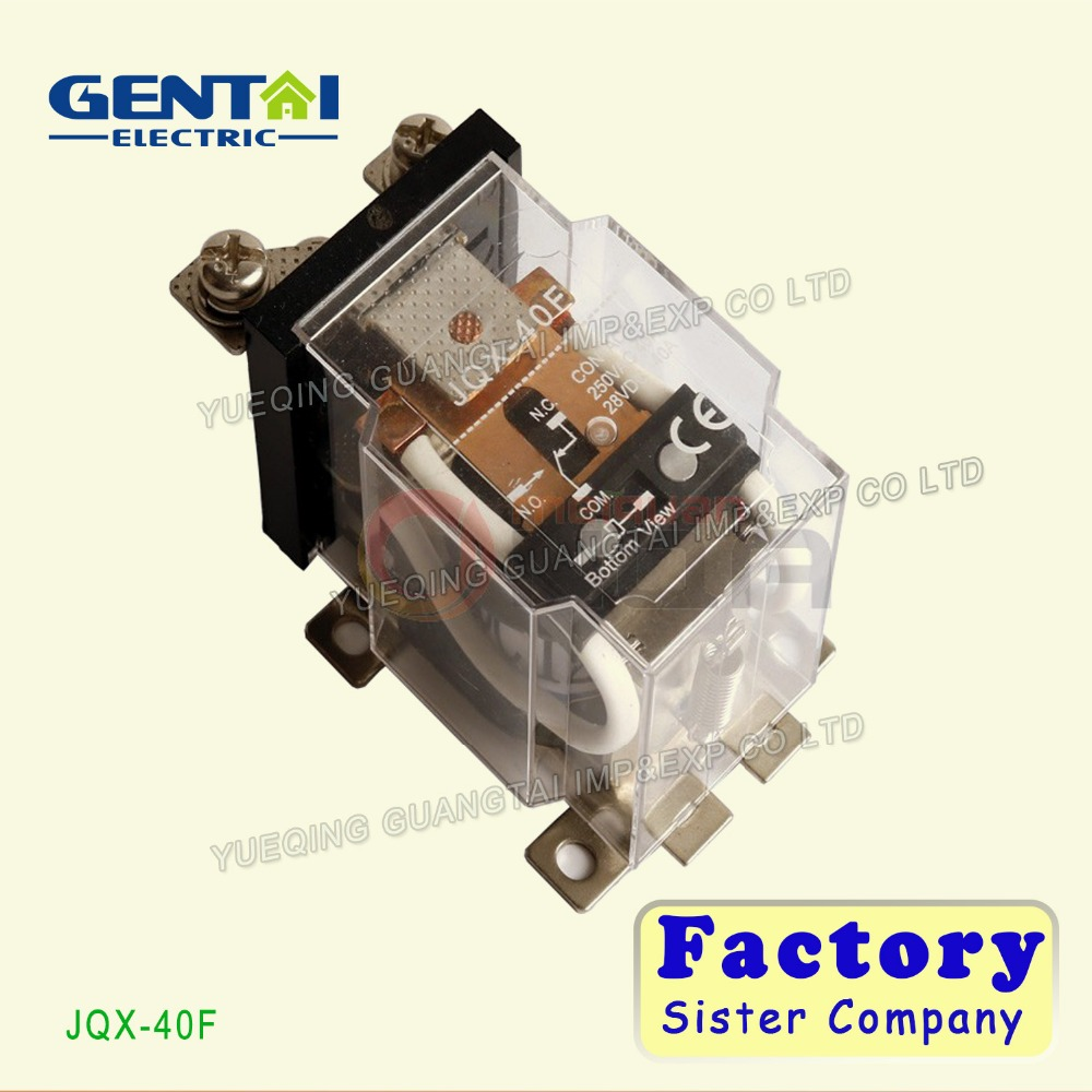 Power relay JQX-40F Top quality 12V 24V 220V miniature general purpose electromagnetic relay