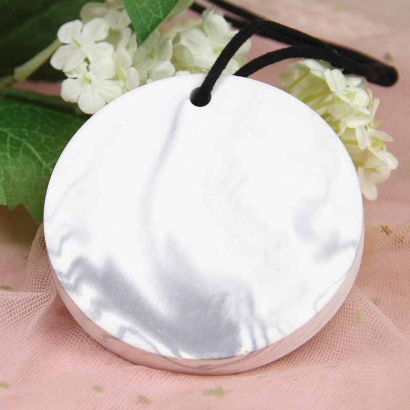Outstanding new design hanging car diffuser ceramic sheet with essential oil use clean the air