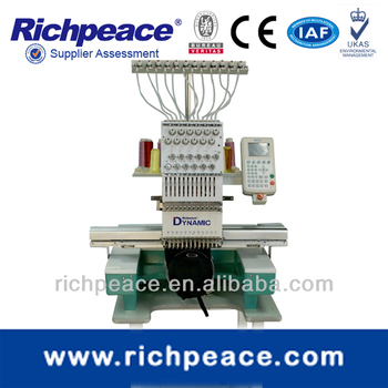 Richpeace Single Head 12 color Cap& Tubular Embroidery Machine