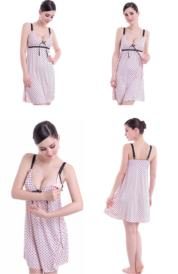 Sexy night maternity sleeping dress pregnant women guangzhou maternity clothes