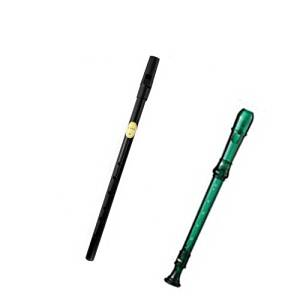 My First Recorder / Penny Whistle Pack -BPA FREE Green Translucent Recorder w/Black Tin Penny Whistle