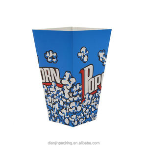 Manufacturer attractive style fancy paper food popcorn box size