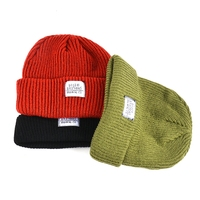 Wholesale custom knitted hats organic cotton fisherman beanie hat