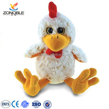 Cheap stuffed squeaky animal toy white turkey promotional cute plush chicken toy
