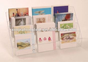82668 desktop acrylic counter display multi layer acrylic greeting 82668 desktop acrylic counter display multi layer acrylic greeting cards maps brochure display stand acrylic counter m4hsunfo