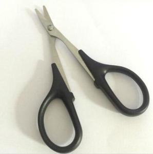 RC Car Body Plastic Model Craft Tools Metal Black handle Curved Scissors