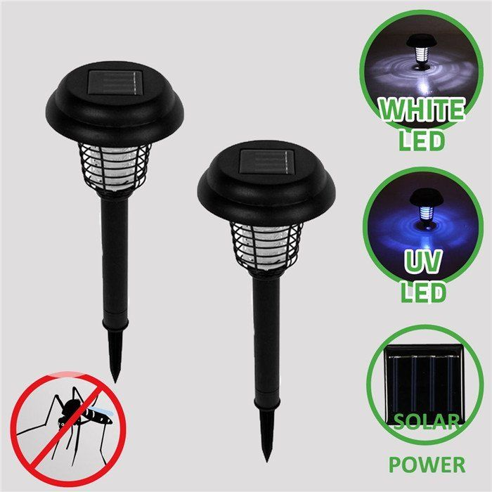 2018 UV LED Solar Powered Outdoor Insetto Killer Bug Zapper Per Il Giardino Solare Lampada Della Zanzara Dell'assassino