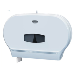 Plastic ABS Dual Roll Jumbo Toilet Tissue Paper Dispenser for airport ,hotel,public place CD-8032B